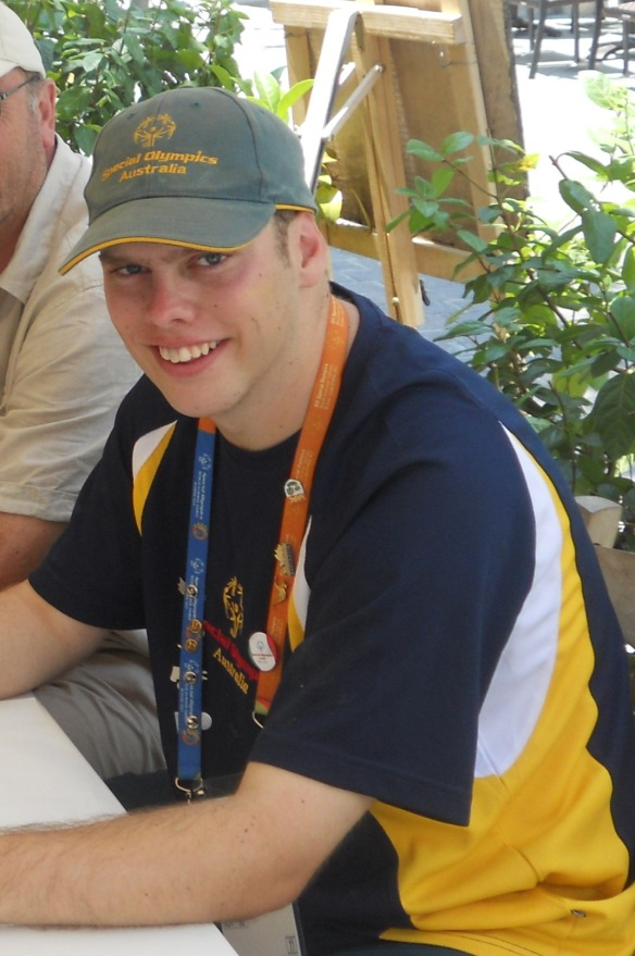 Harry Langford in Greece with Special Olympics