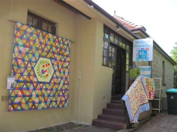 EPQ raffle quilt at Material Obsession, Drummoyne