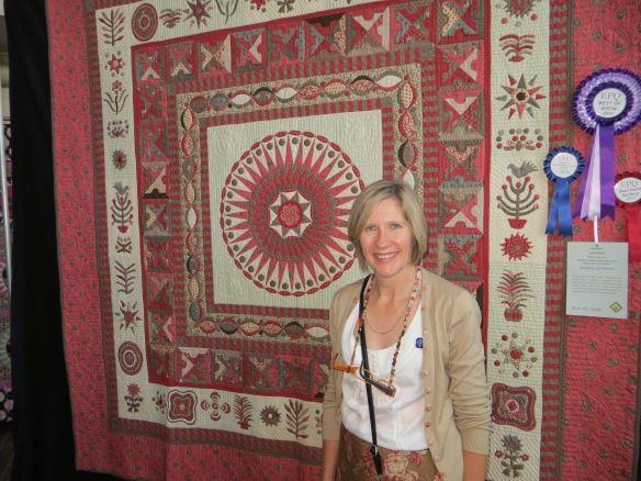 Louise Smith and her Best of Show quilt - Bonaparte and Bohemia