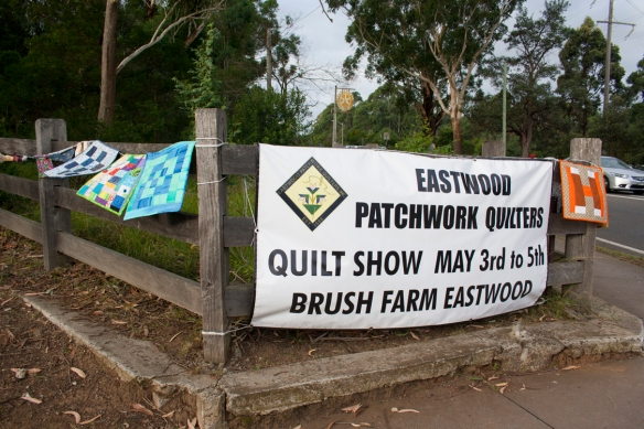 Visitors were welcomed by banners and bunting around the perimeter of Brush Farm House