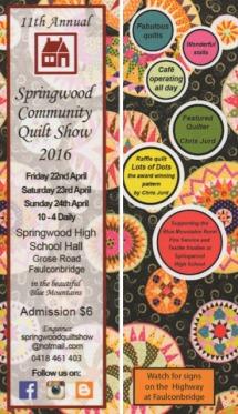 Springwood 2016 Show flyer